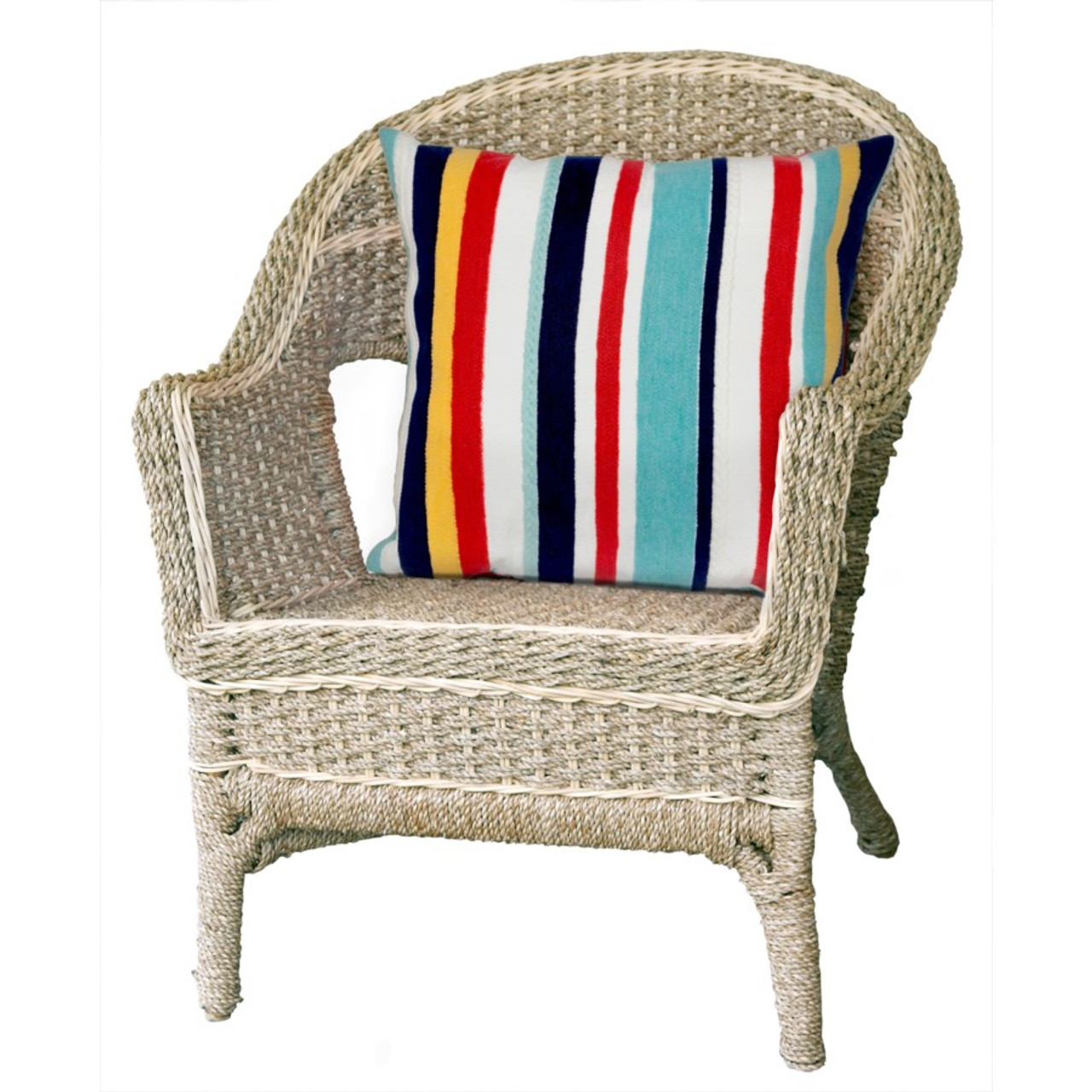 Visions Riviera Stripes Indoor/Outdoor Throw Pillow - Square Lifestyle