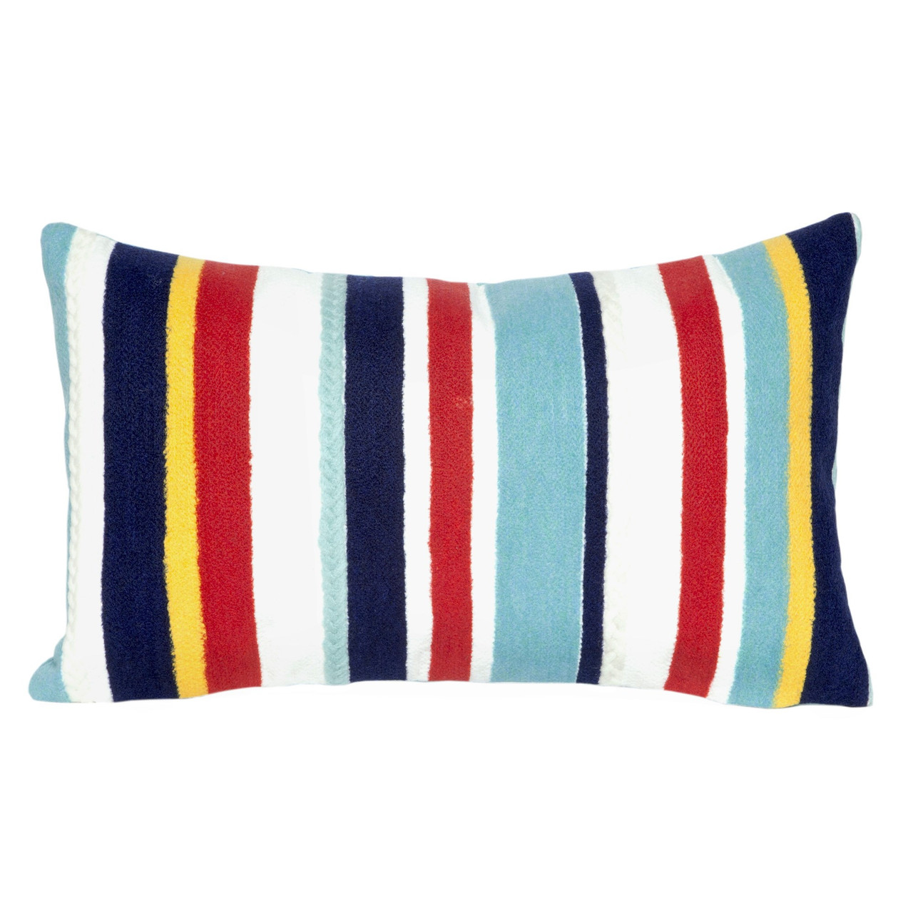 Visions Riviera Stripes Indoor/Outdoor Throw Pillow - Rectangle