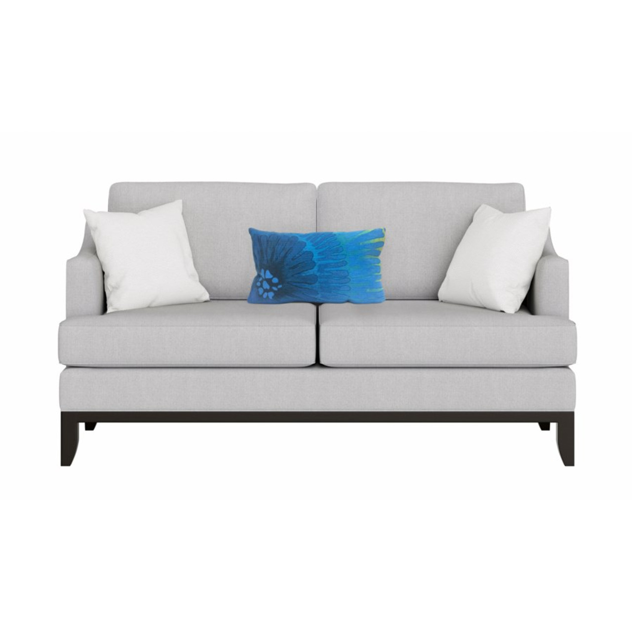 Visions Blue Cirque Caribe Indoor/Outdoor Throw Pillow  - Rectangle Lifestyle