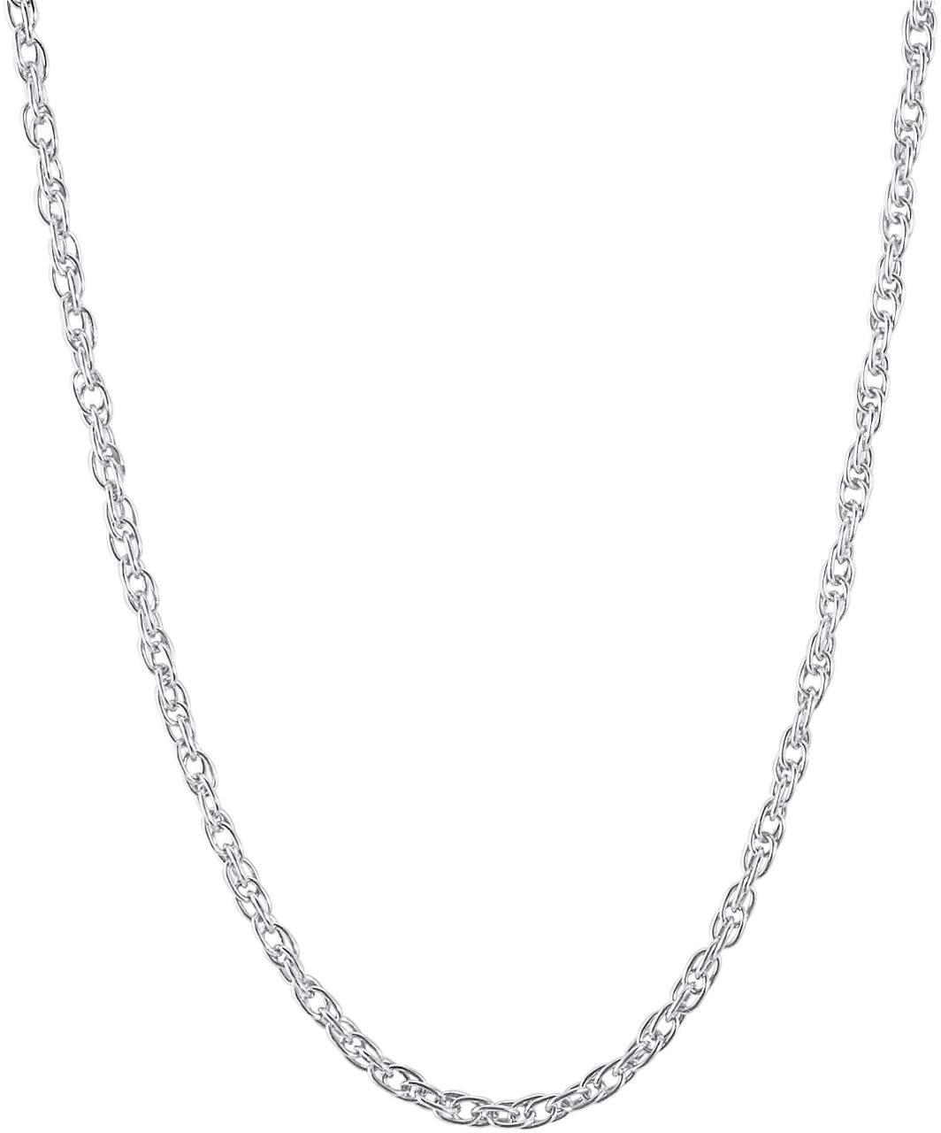 Rope Chain Charm Necklace - Sterling Silver