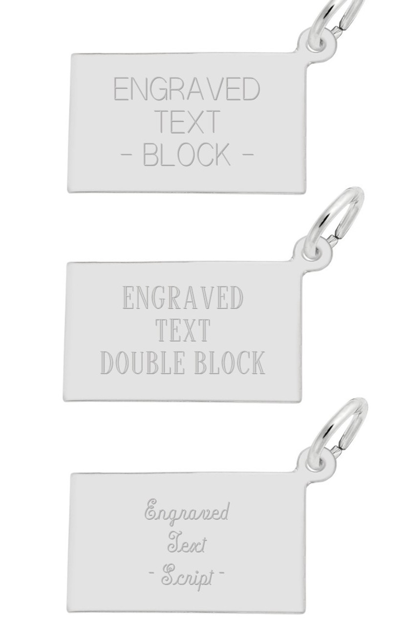 """Hilton Head""  Lighthouse Charm Engraving - Traditional Font Options"