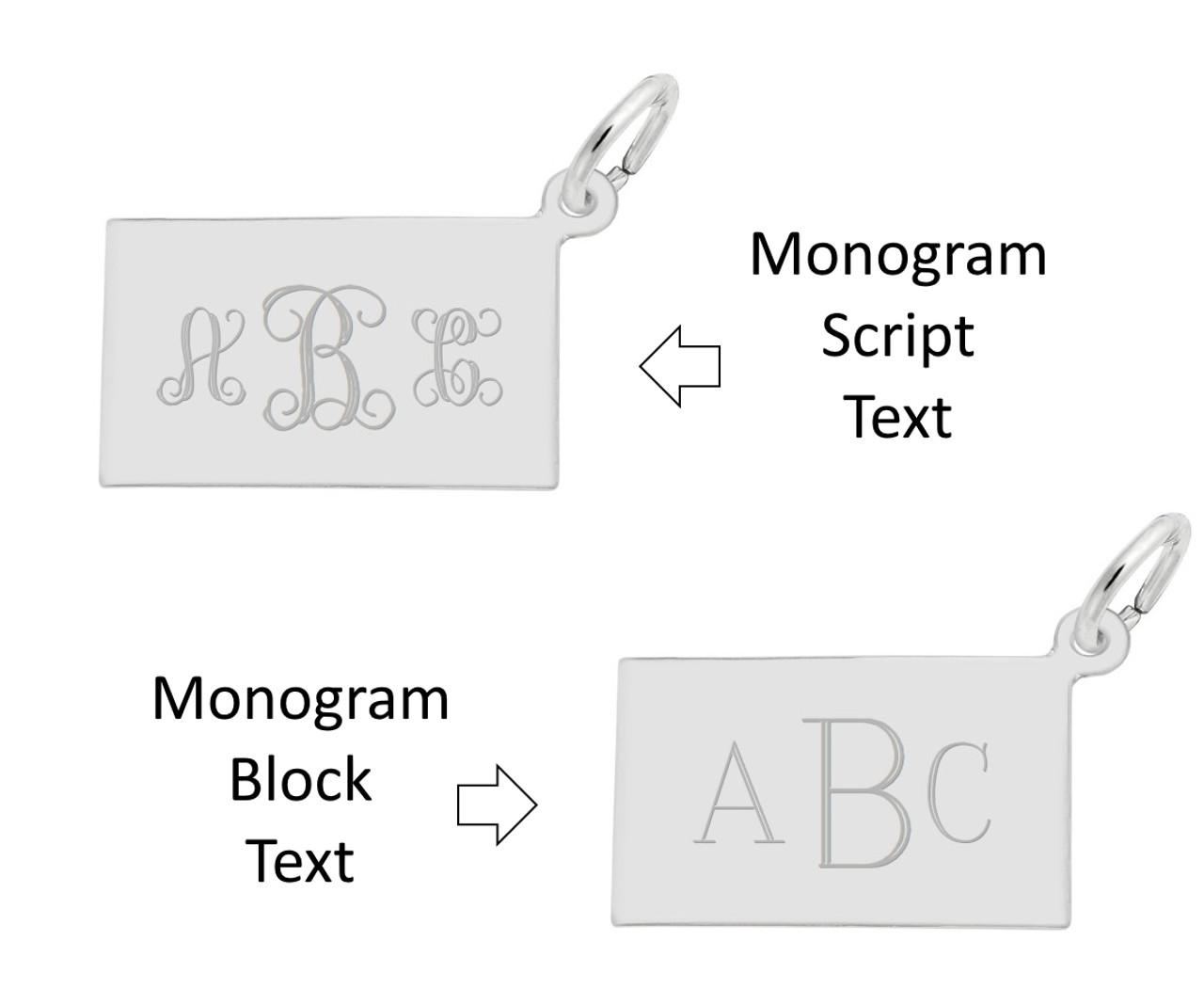 """Hilton Head""  Lighthouse Charm Engraving - Monogram Font Options"