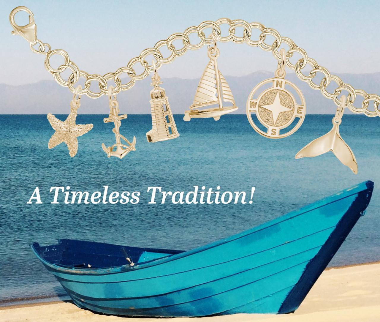 """Aruba"" Palm Tree Charm - 5 Metals Available"