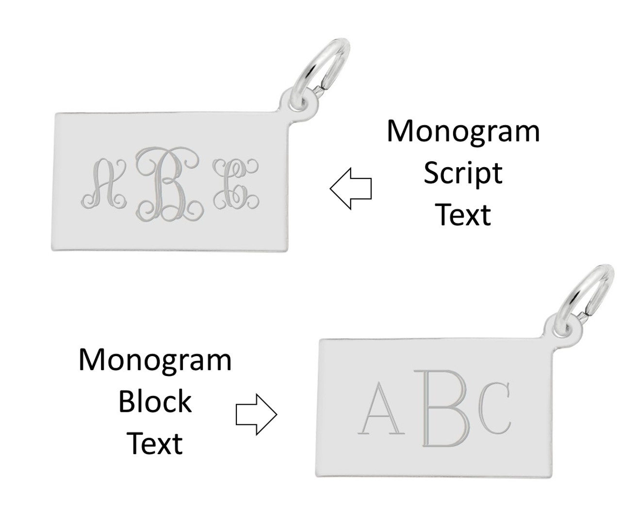 Charm Engraving - Monogram Font Options