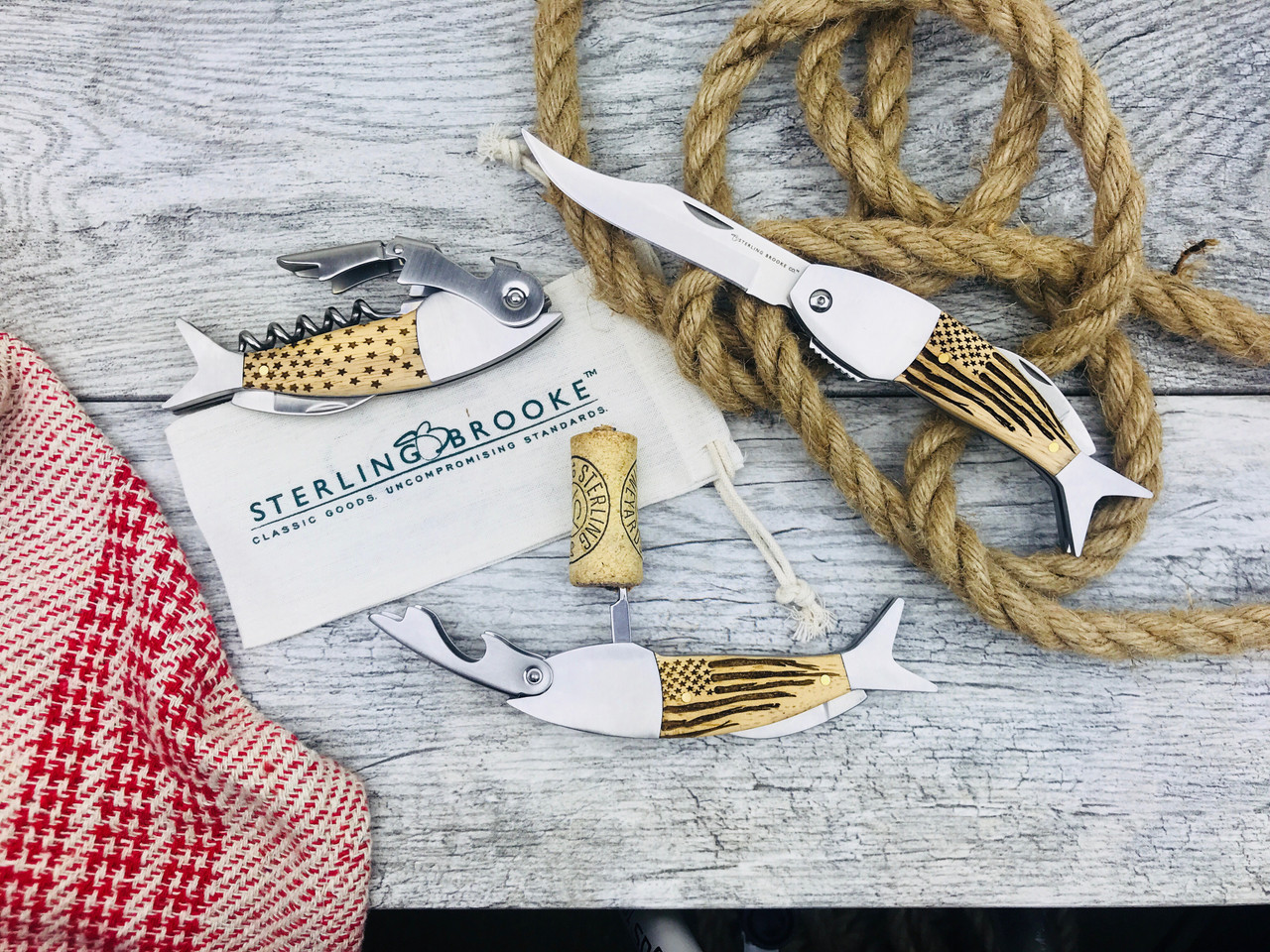 Coastal Double Pull Corkscrew Wine Opener – Choose Your Design – Optional Custom Engraving