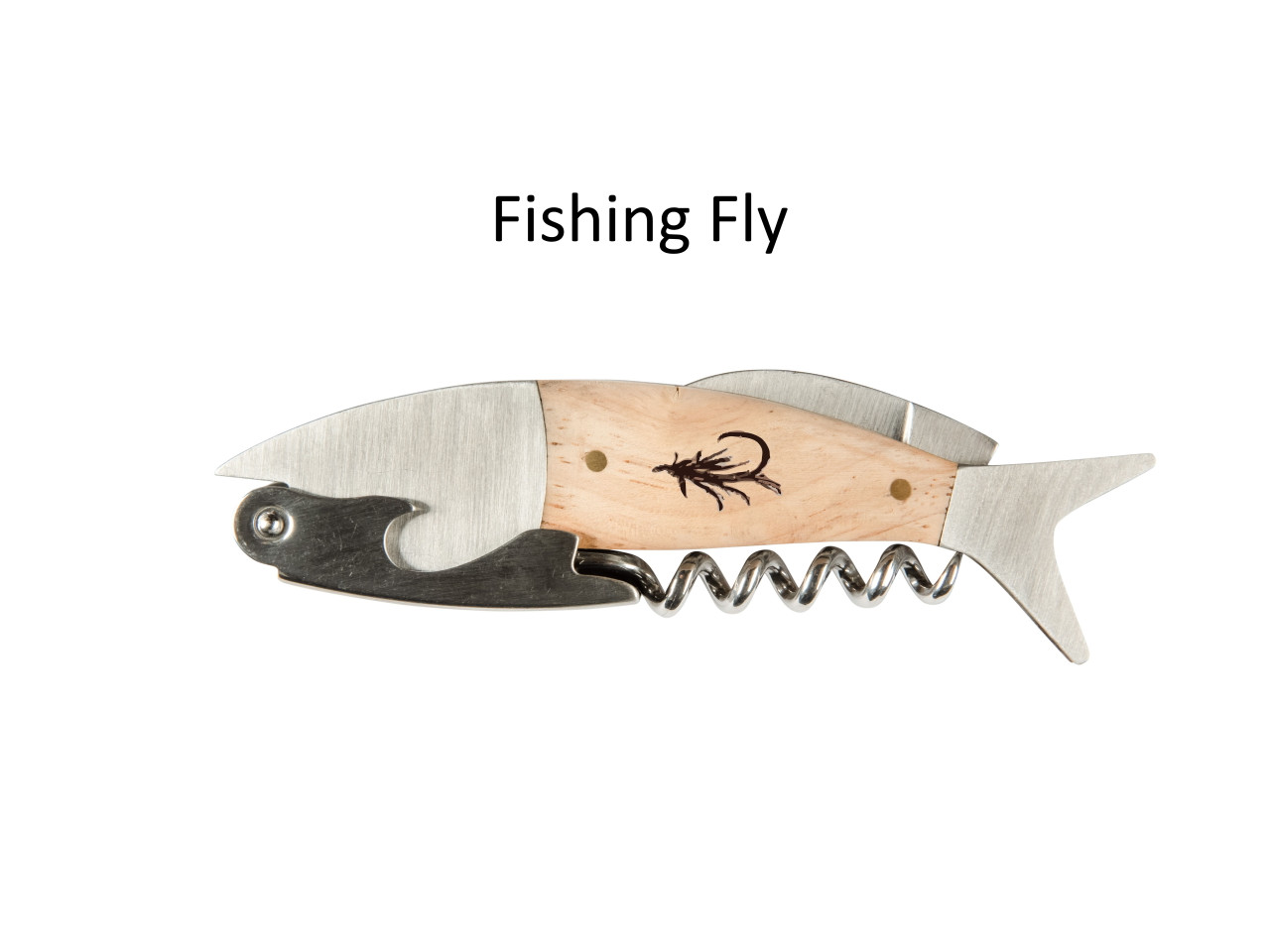 Coastal Single Pull Corkscrew Wine Opener – Choose Your Design – Optional Custom Engraving - Fishing Fly