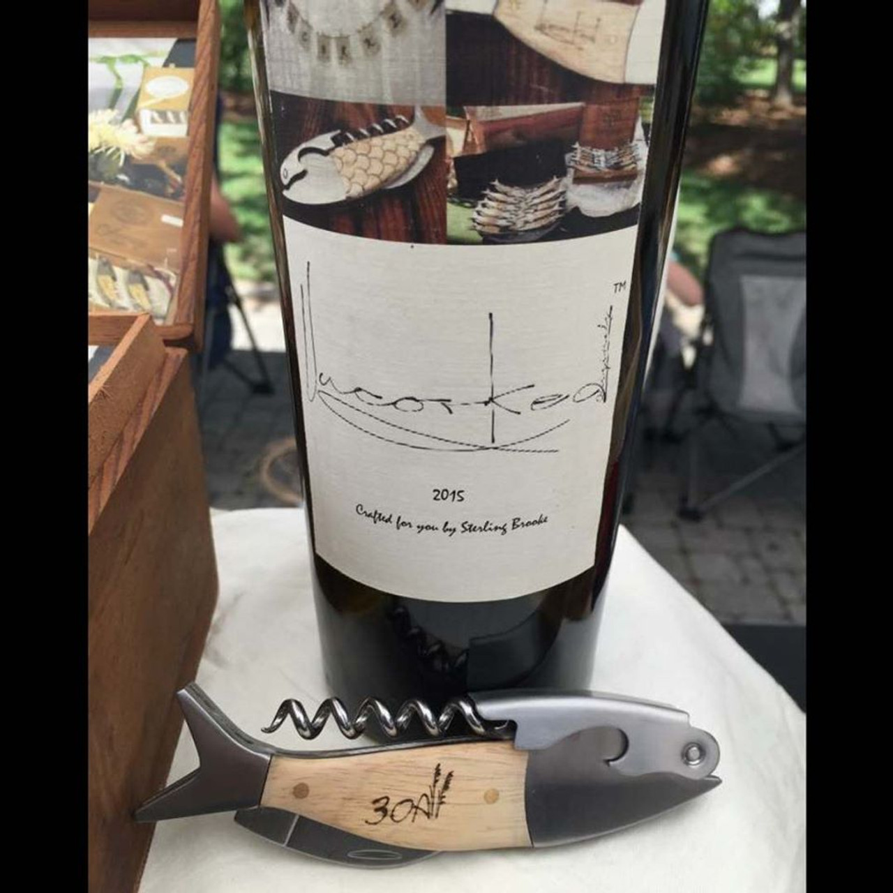 Coastal Single Pull Corkscrew Wine Opener – Choose Your Design – Optional Custom Engraving
