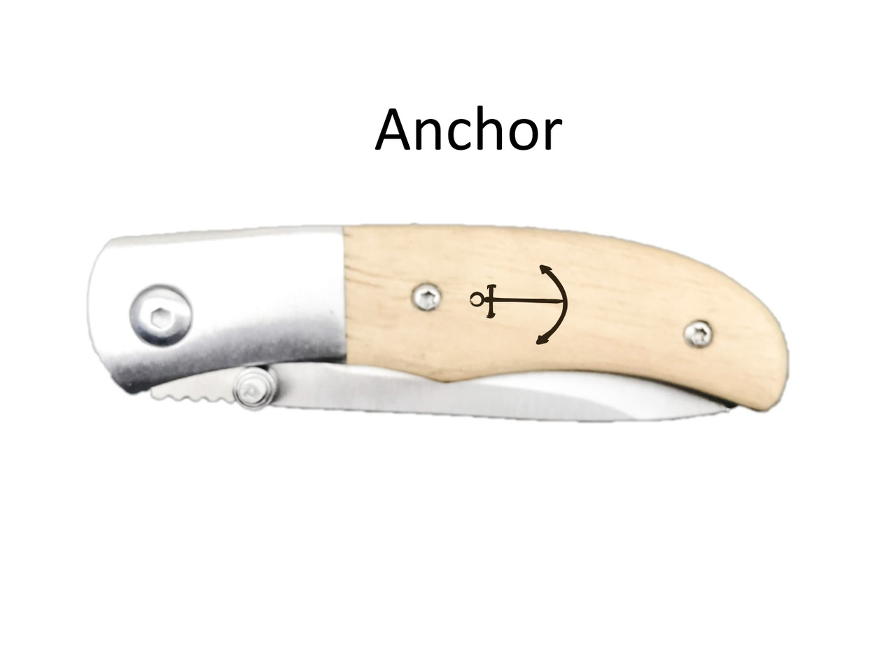 Classic Small Pocket Knife – Choose Your Design – Optional Custom Engraving - Anchor