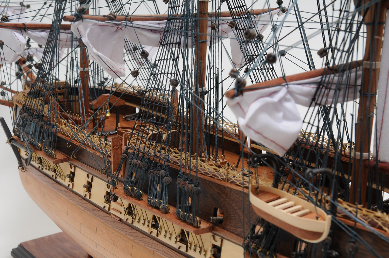 """USS Constitution Model Ship - 32"""" w/ Table Top Display Case - Optional Personalized Plaque"""