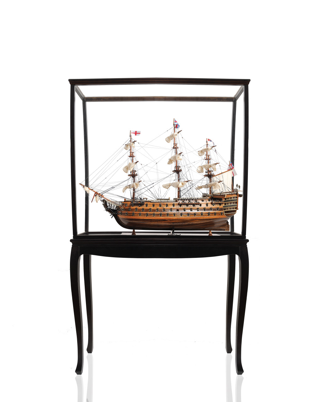 """HMS Victory Model Ship - 36"""" Exclusive Edition w/ Floor Display Case - Optional Personalized Plaque"""