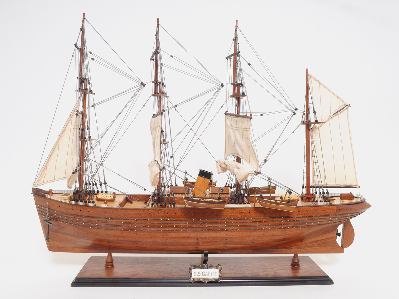"S.S. Gaelic Model Ship - 24.3"" - Optional Personalized Plaque"