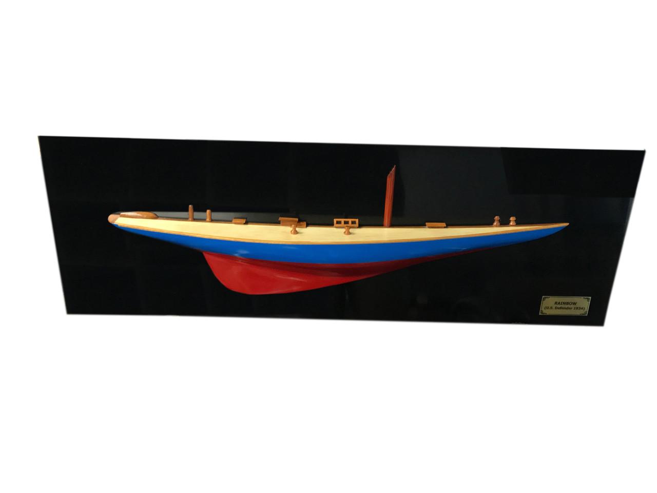 "Rainbow Half-Hull Scaled Model Boat - 35.5"""