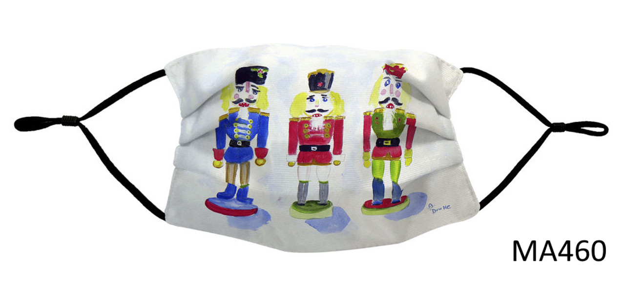 Nautical Face Masks - Holiday Collection - Nutcrackers Face Mask - MA460
