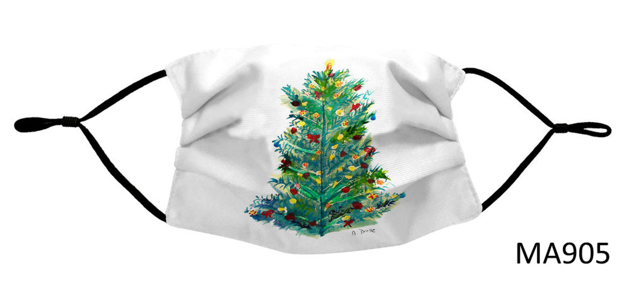 Nautical Face Masks - Holiday Collection - Christmas Tree Face Mask - MA905