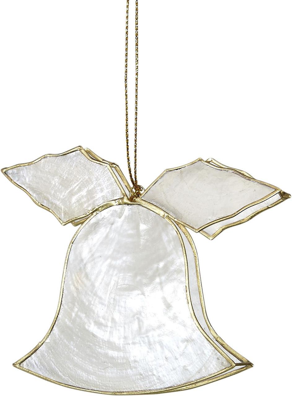 Capiz Christmas Ornaments - Set of 6 - Bell