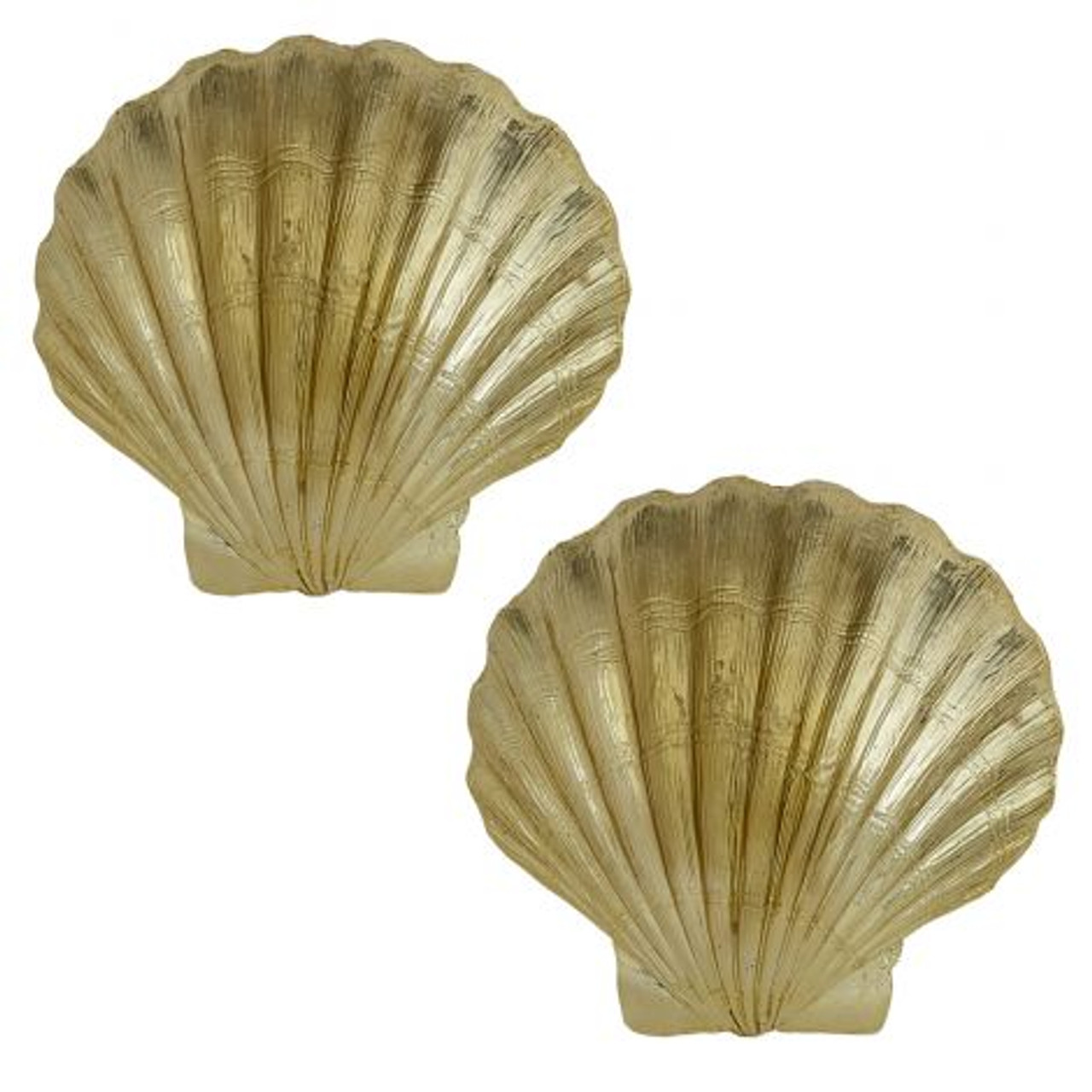Scallop Shell In Electro Gold 7 5 Set Of 2