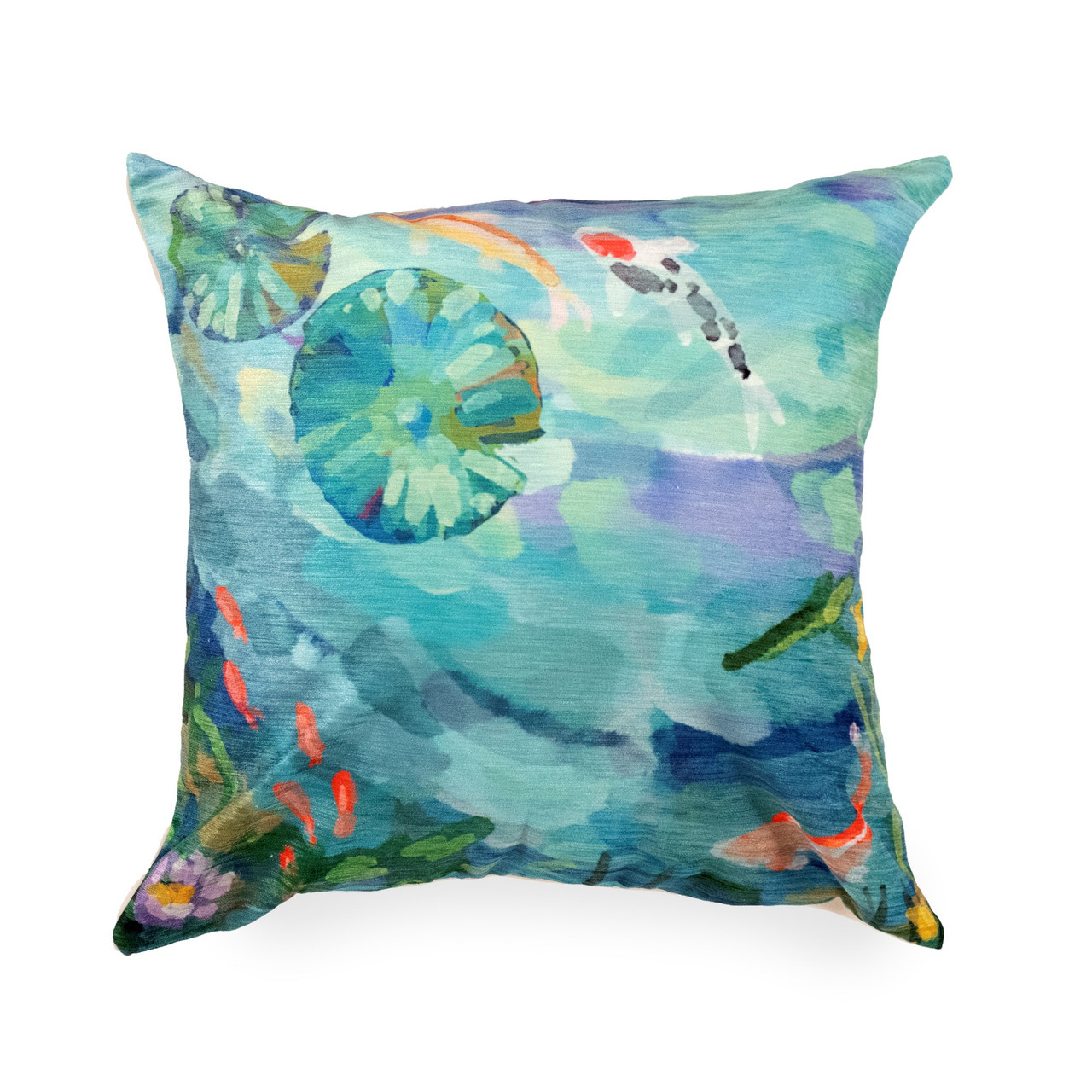 "Illusions Peaceful Pond Indoor/Outdoor Throw Pillow - 18"" Square"