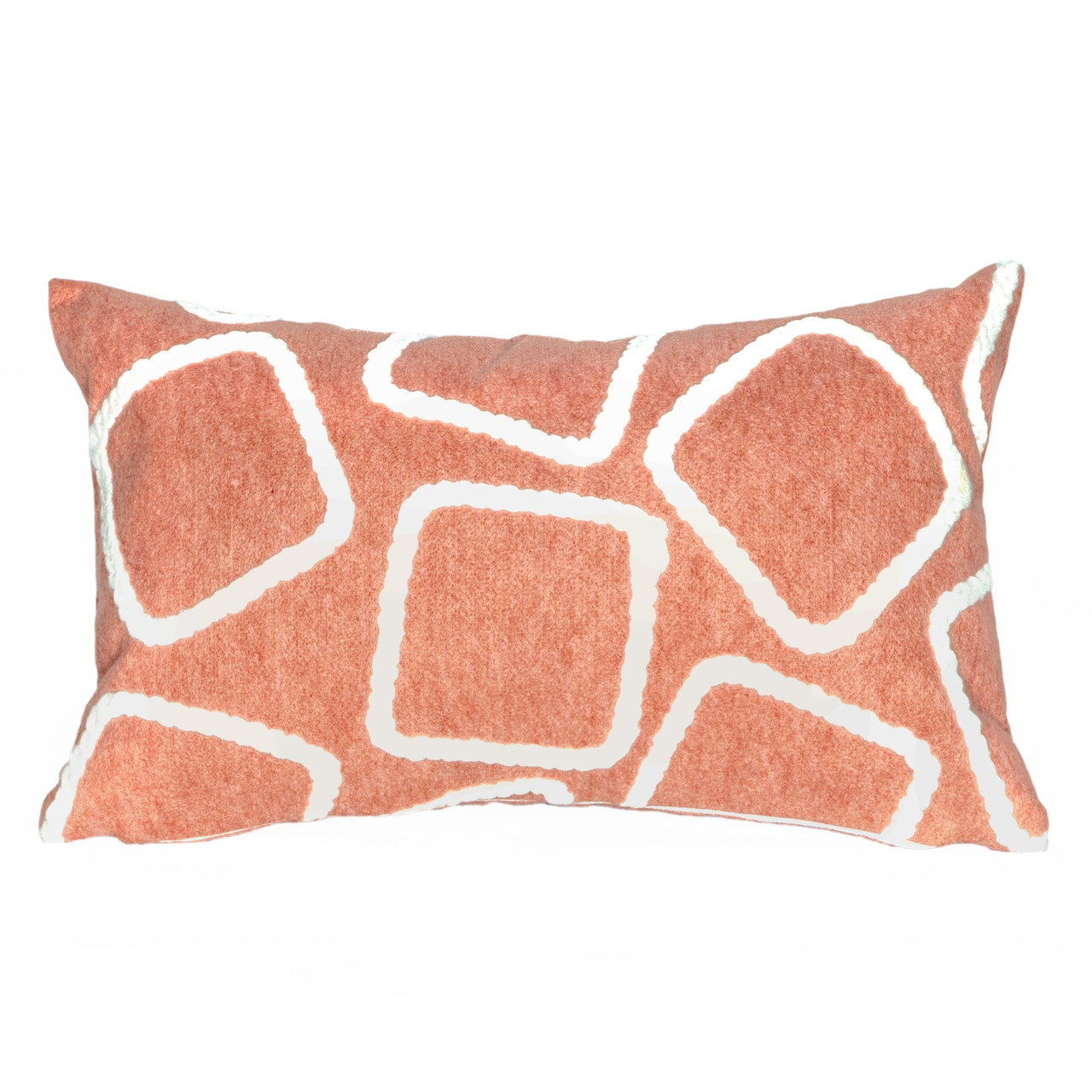 Visions Coral Squares Indoor/Outdoor Throw Pillows - 2 Sizes Avail