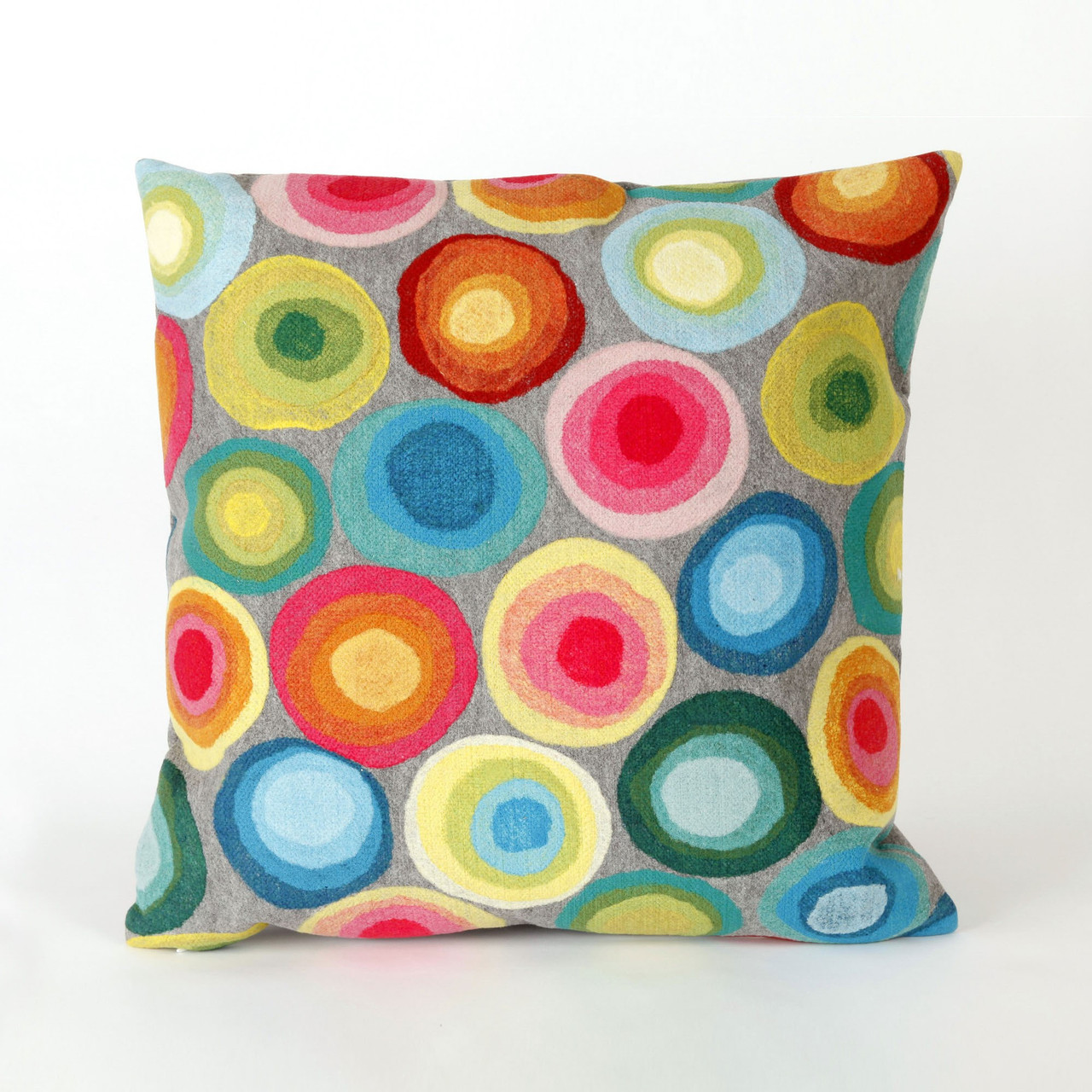 Visions II Multicolored Puddle Dots Indoor/Outdoor Throw Pillows - 2 Sizes Avail