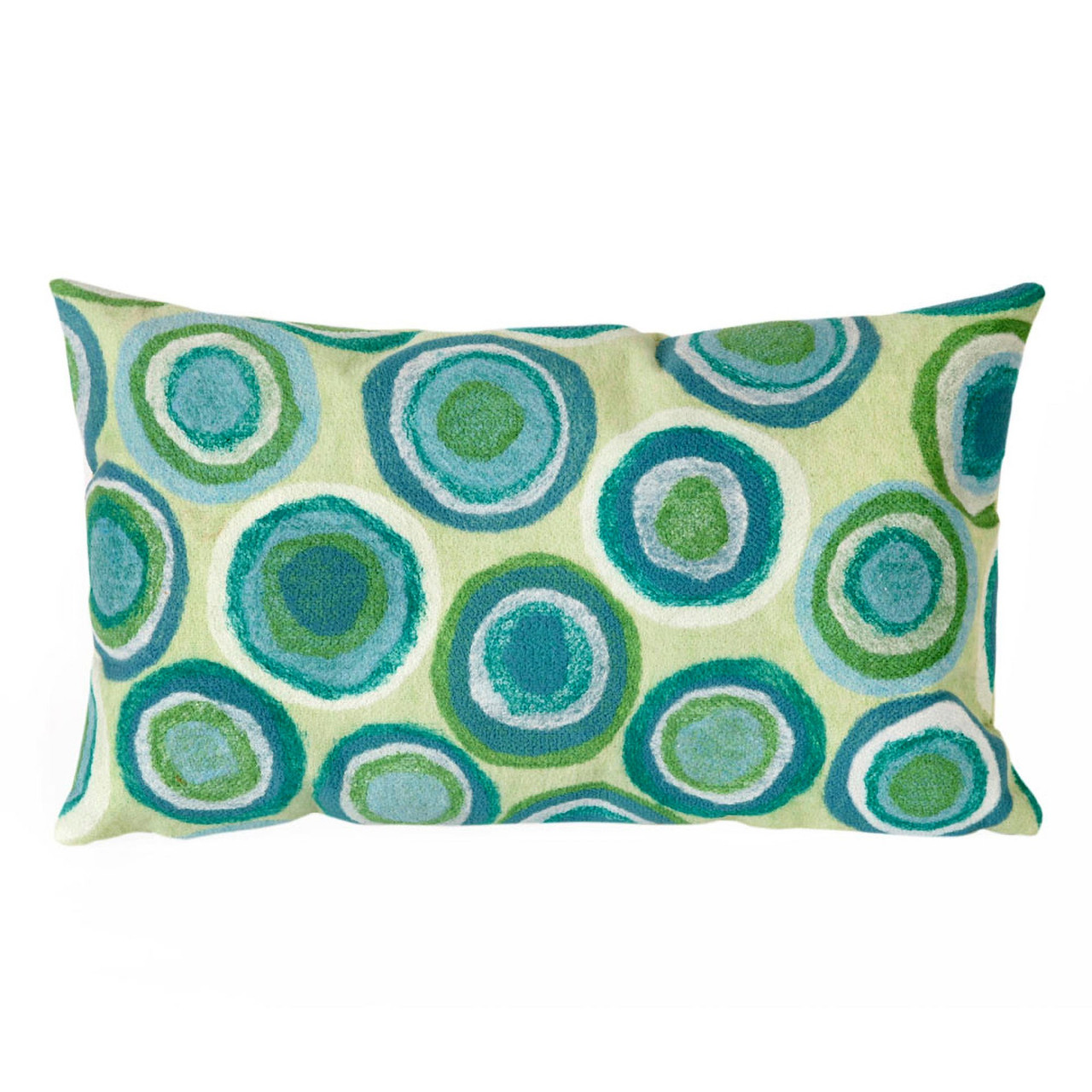 Visions II Spa Colored Puddle Dots Indoor/Outdoor Throw Pillows - 2 Sizes Avail