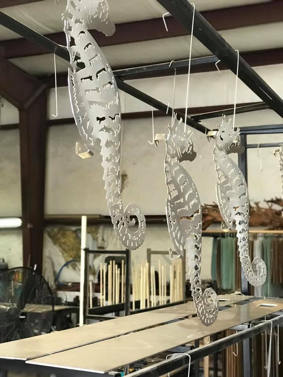 Sea Horse Stainless Steel Wall Decor - Lifestyle