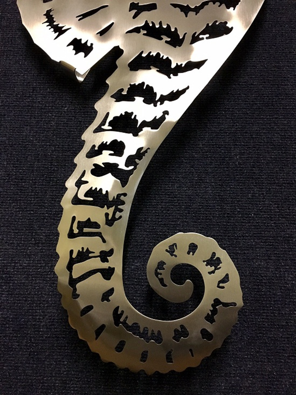 """Sea Horse Stainless Steel Wall Decor - Large - 36"""""""