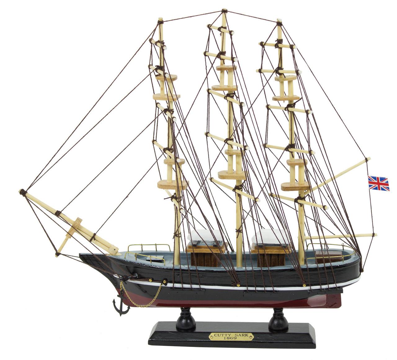 """Cutty Sark Model Ship - 1869 - 13.5"""" H"""