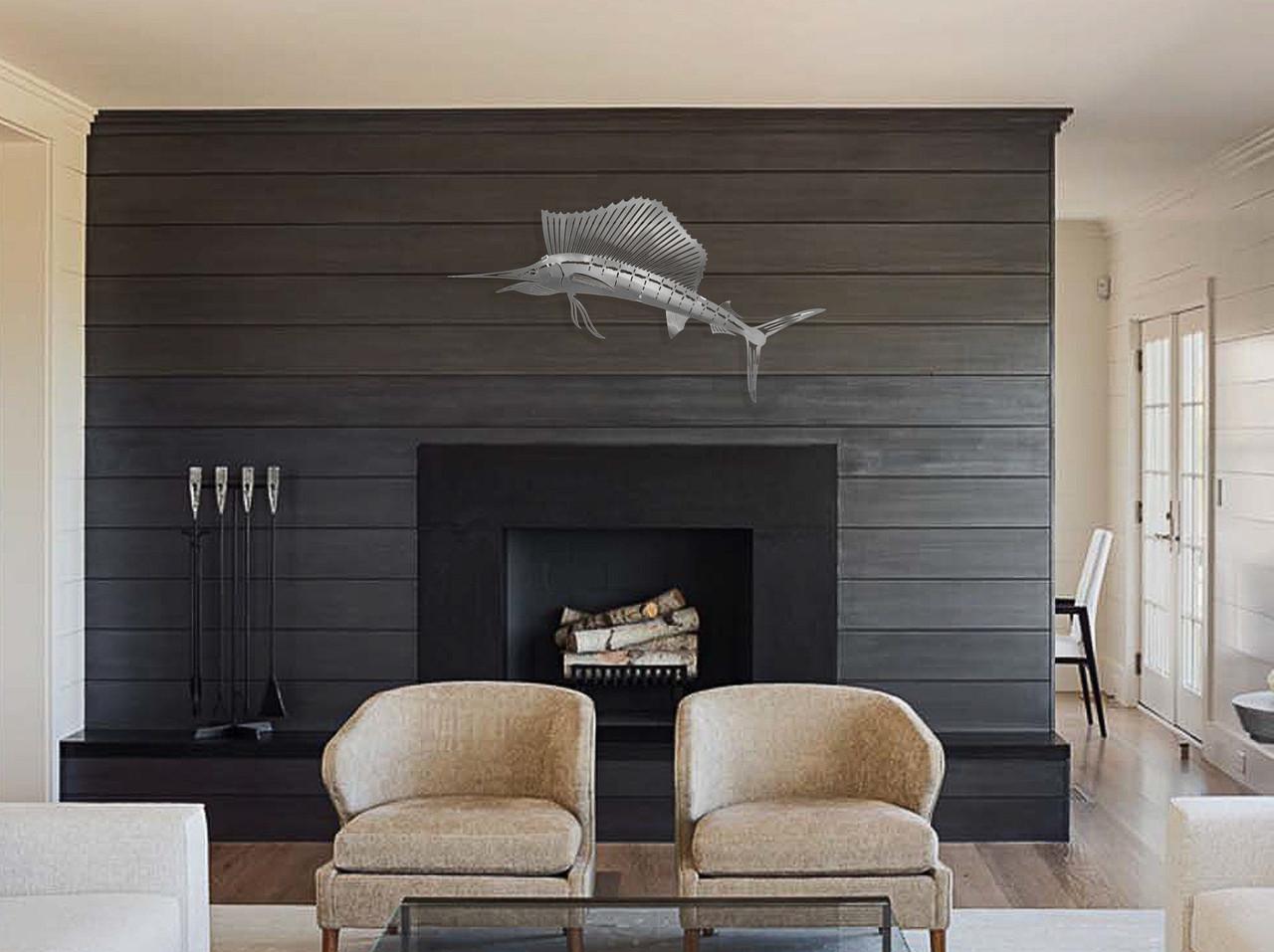 Sailfish Stainless Steel Wall Decor - Lifestyle