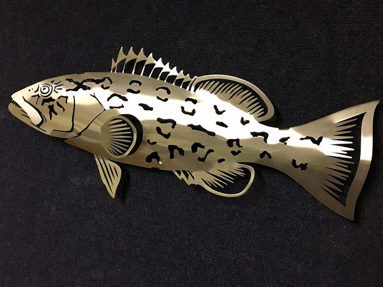 """Grouper Stainless Steel Wall Decor - 30.25"""""""