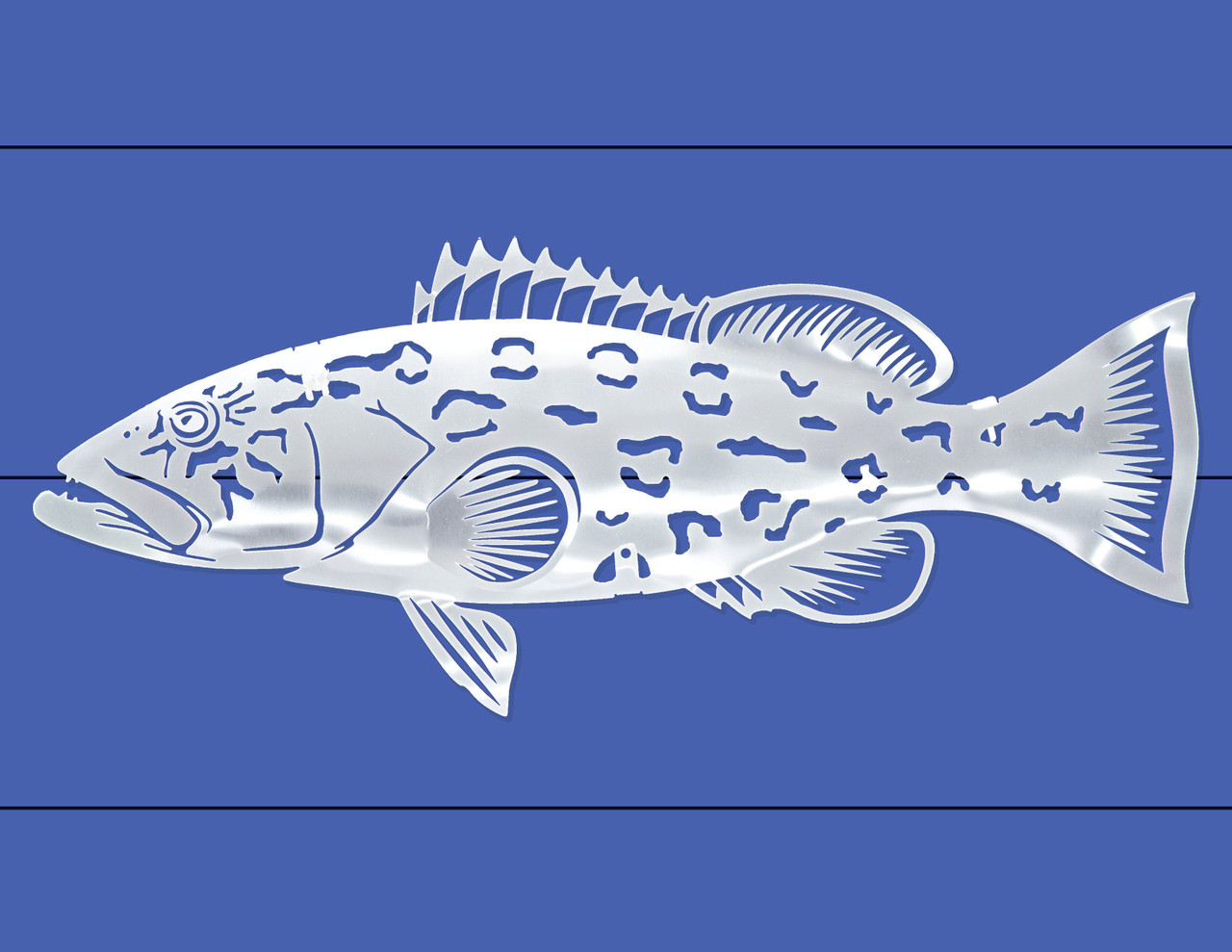 Grouper Stainless Steel Wall Decor