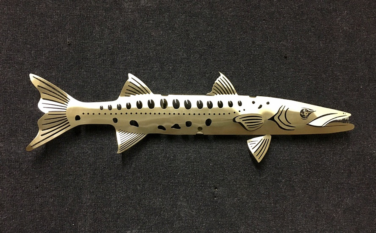 """Barracuda Stainless Steel Wall Decor - 31"""""""