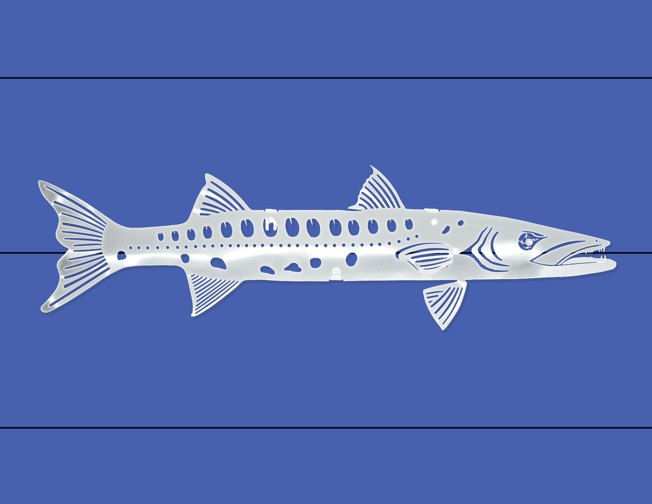 Barracuda Stainless Steel Wall Decor - Lifestyle