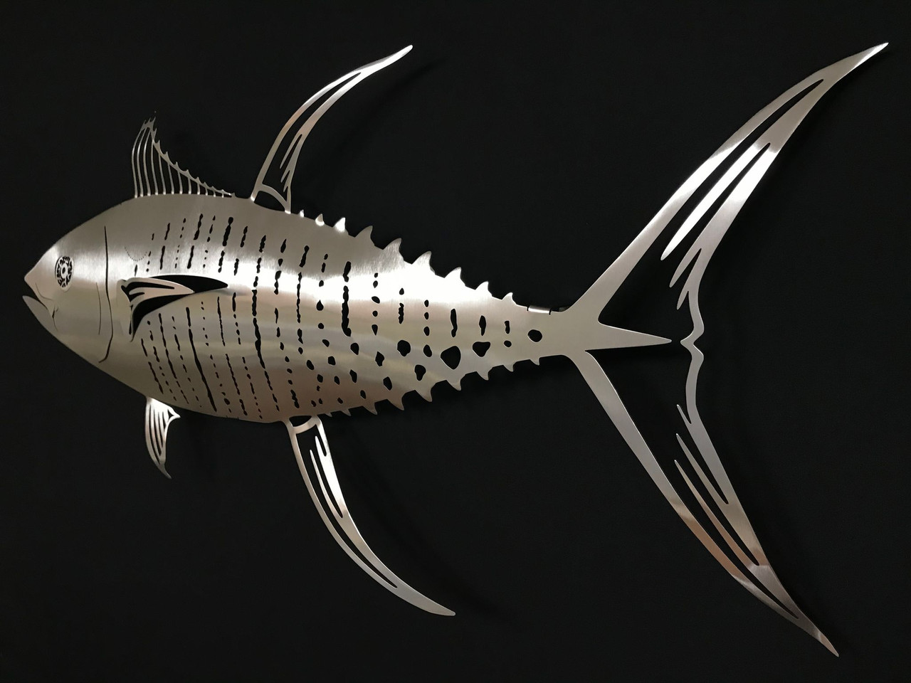 "Tuna Stainless Steel Wall Decor - 36"""