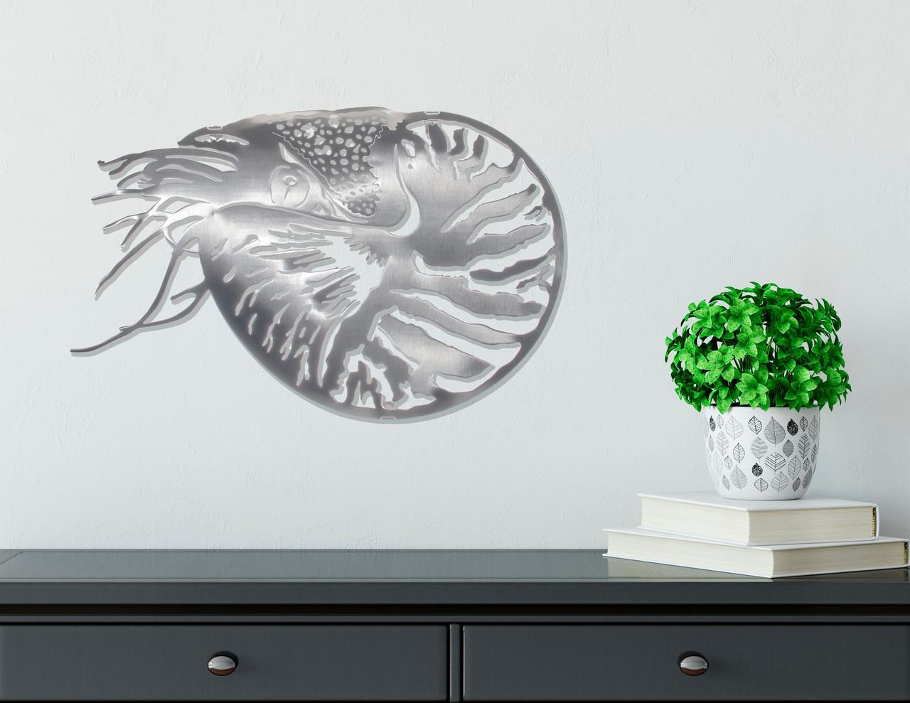 Nautilus Stainless Steel Wall Decor  Lifestyle