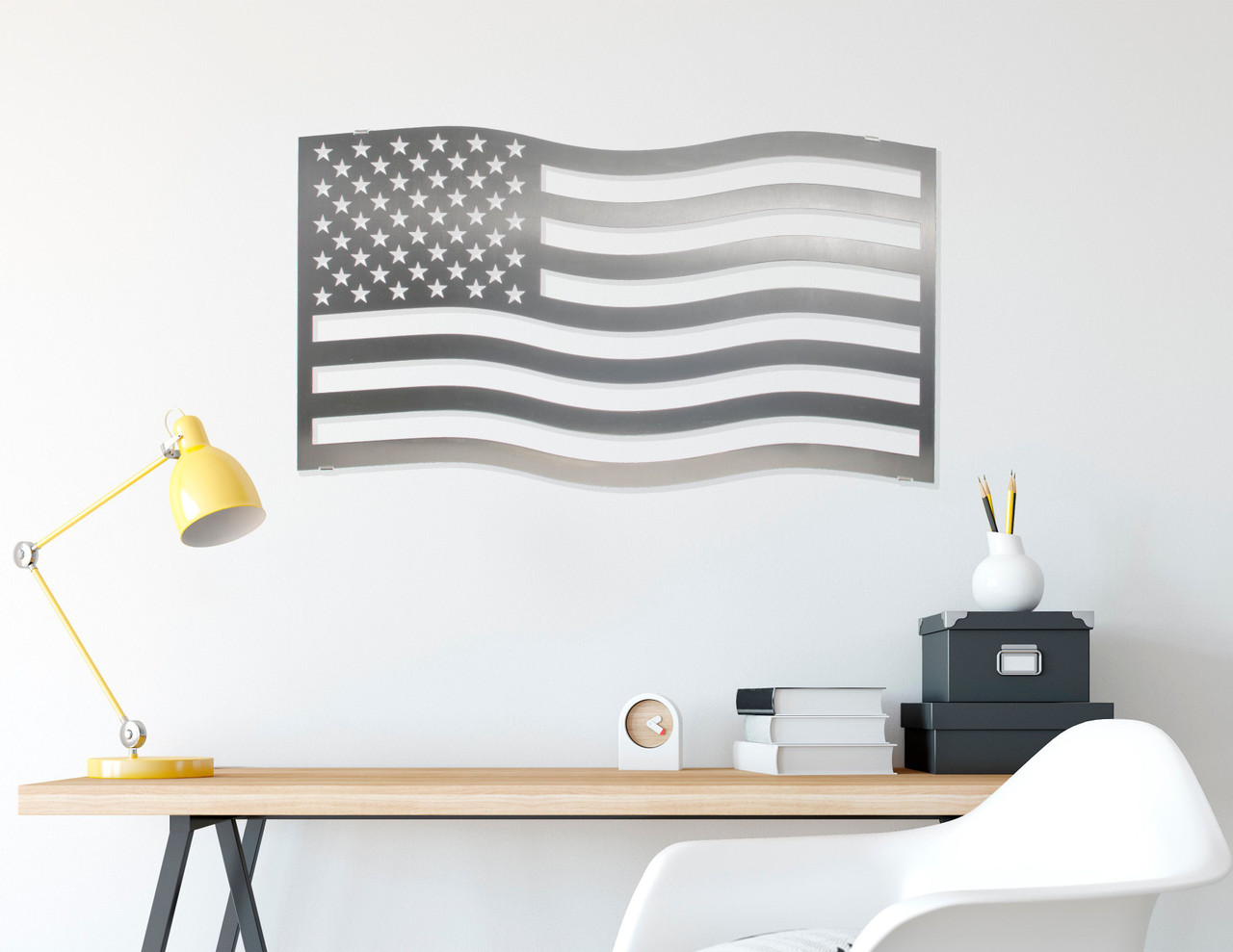 American Flag Stainless Steel Wall Decor – Lifestyle