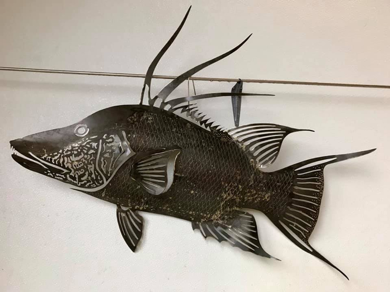 Hog Snappe Fish Stainless Steel Wall Decor – Lifestyle