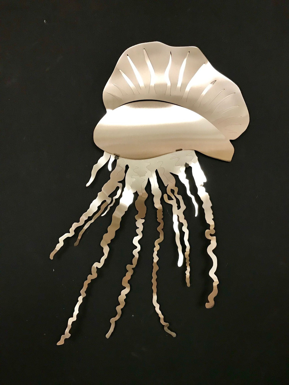 """Portuguese Man of War Stainless Steel Wall Decor – 24"""""""
