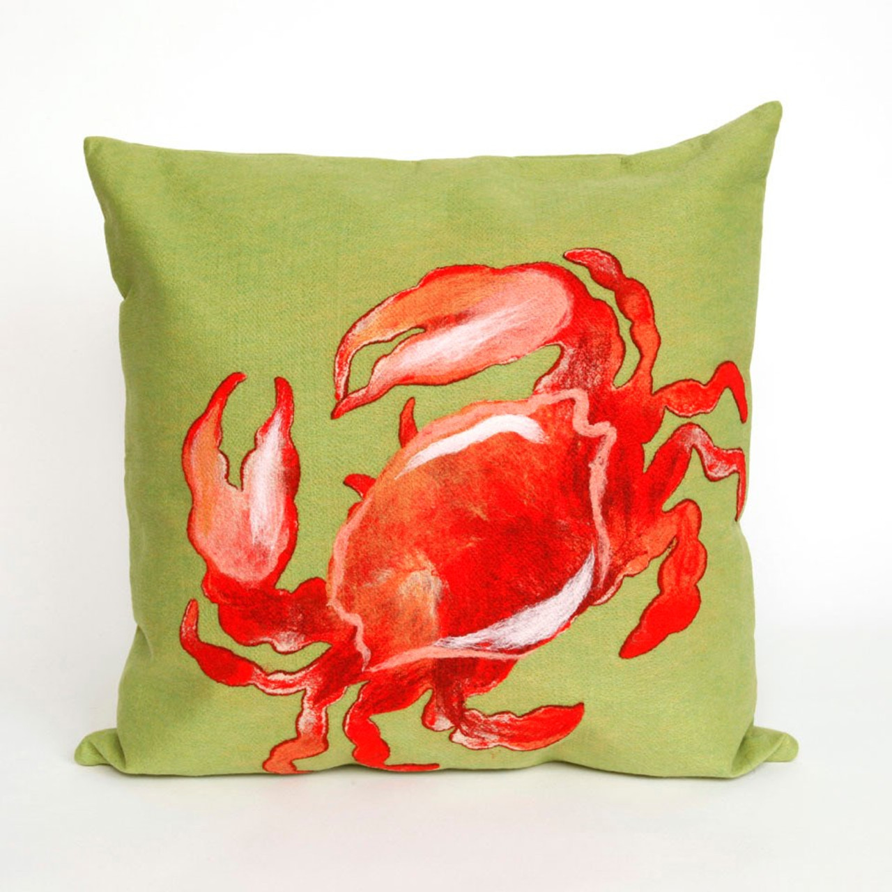 Visions II Red Crab Indoor/Outdoor Throw Pillows - 2 Sizes Avail