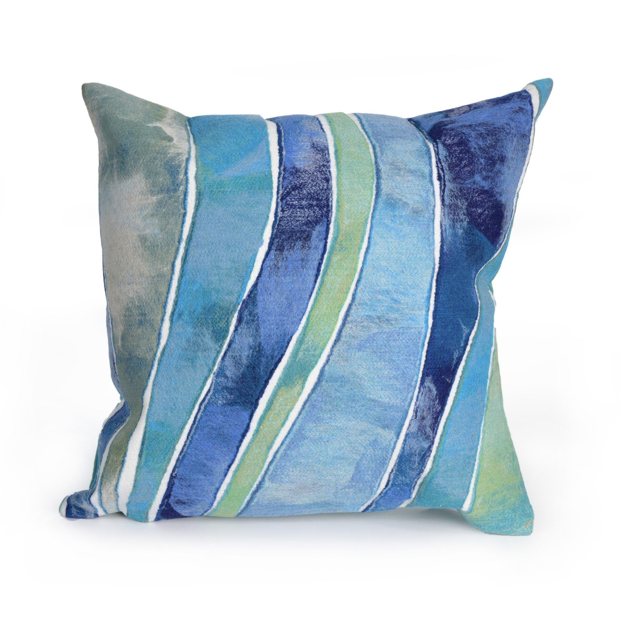 Visions II Ocean Waves Indoor/Outdoor Throw Pillows - 2 Sizes Avail