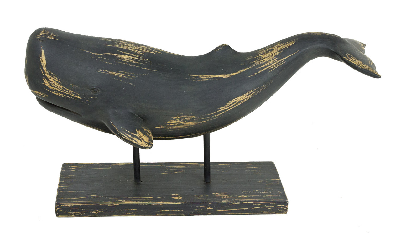Whale Sculpture  on a Stand- Designer Resin