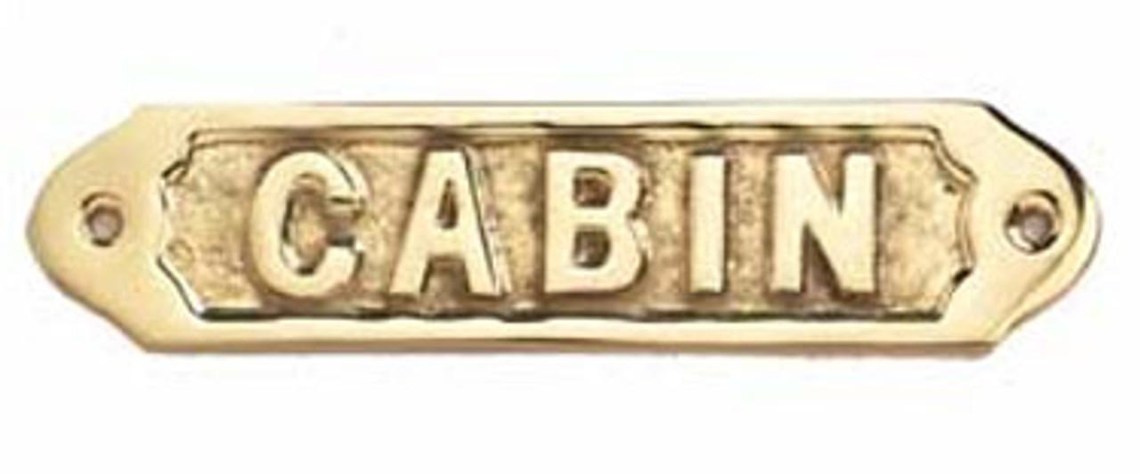 Brass Nautical Wall Plaque - Cabin