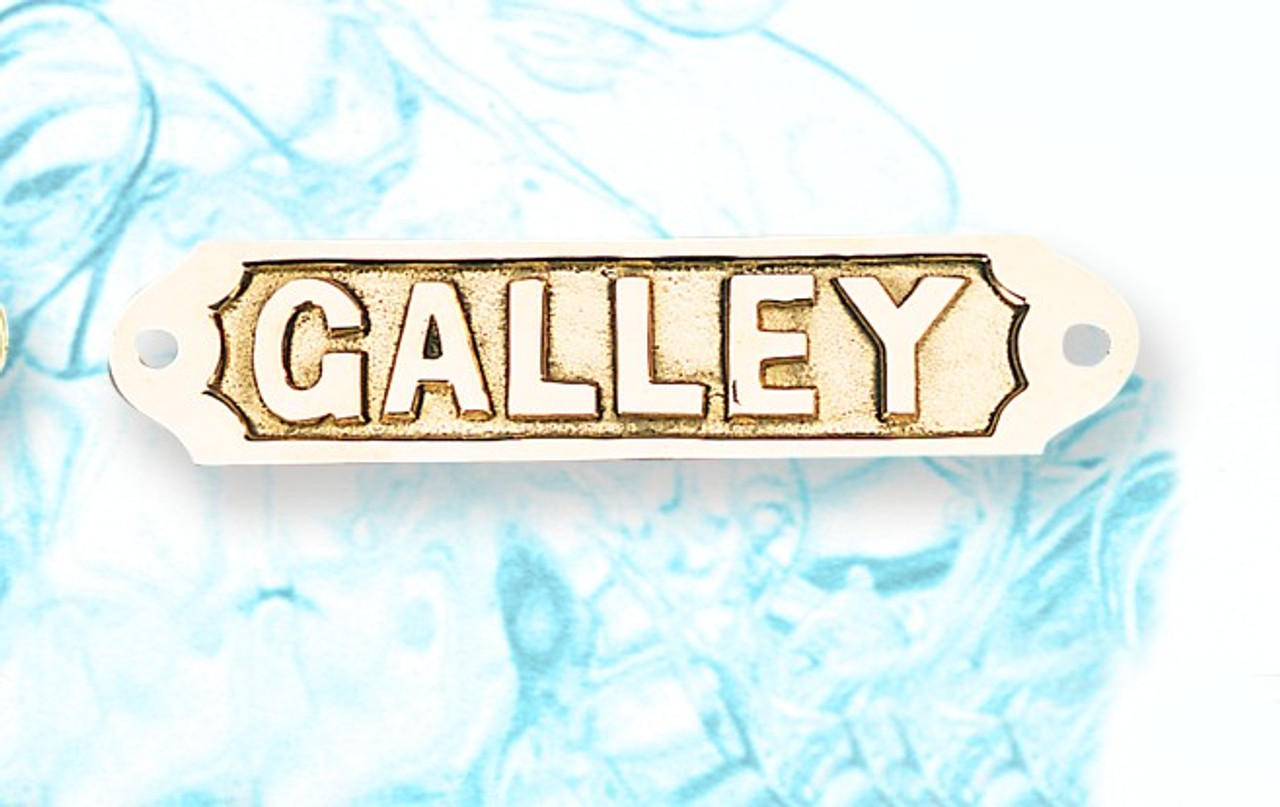 Brass Nautical Wall Plaque - Galley