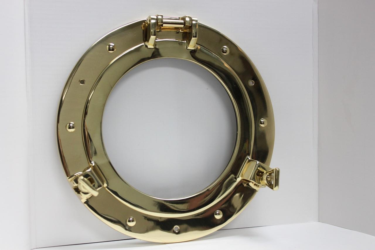 """(BP-701C-21) 21"""" Solid Polished Brass Porthole Window"""