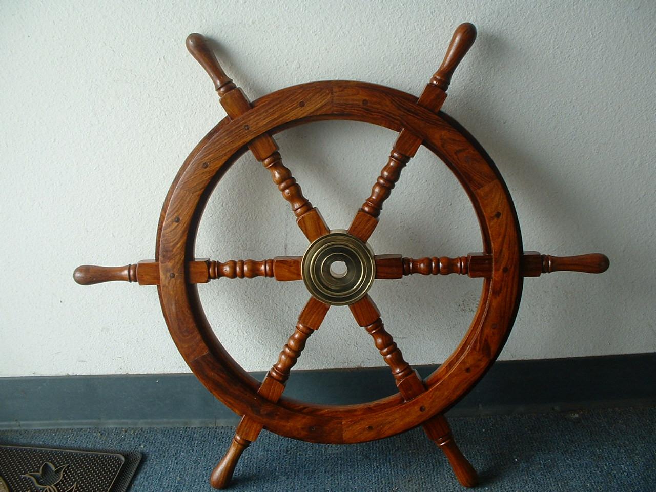"""(SW-101-30-S)  30"""" Standard Wooden Ship Wheel -  Single Wheel"""