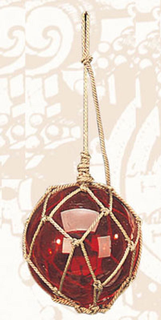 "Decorative Glass Float - 4"" - Red Closeup"
