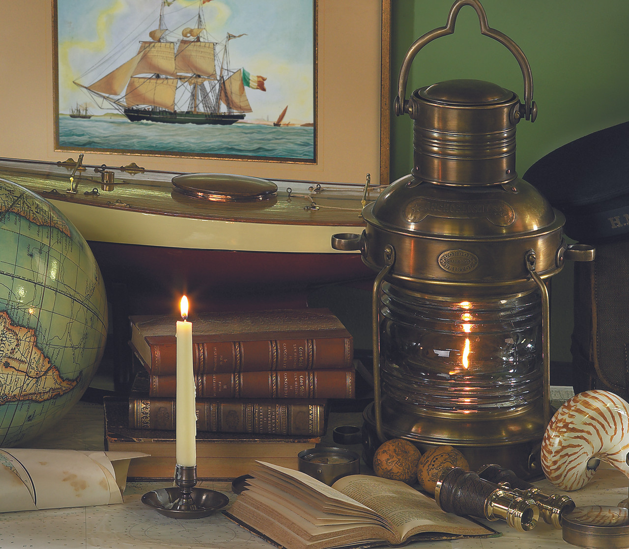 Brass and Copper Anchor Lamp