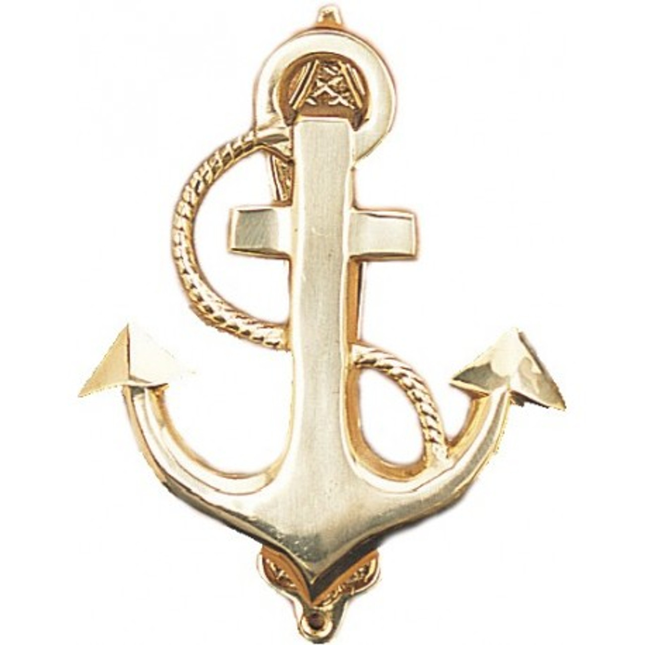 """(DK-02) 5"""" Fancy Anchor Brass Door Knocker with Lacquer Finish"""