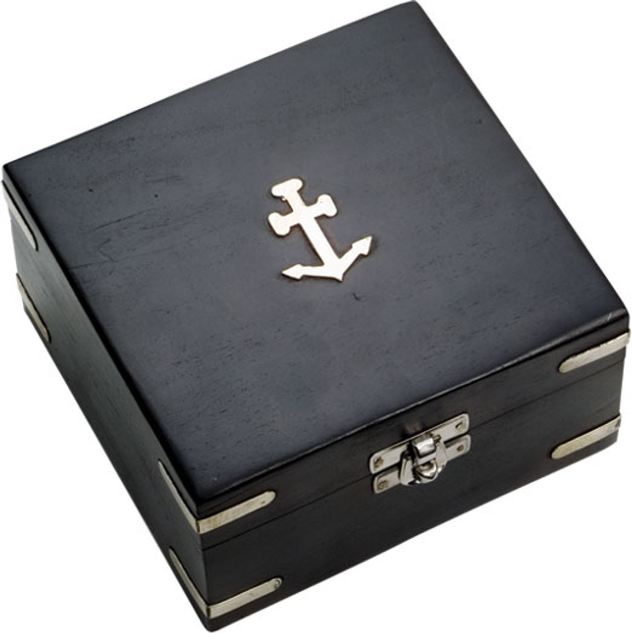 Brass Binocular with Nickel Finish and Wooden Box