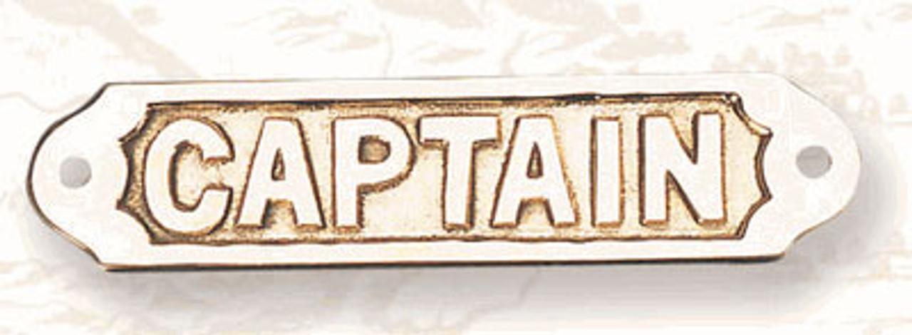 Brass Nautical Wall Plaque - Captain