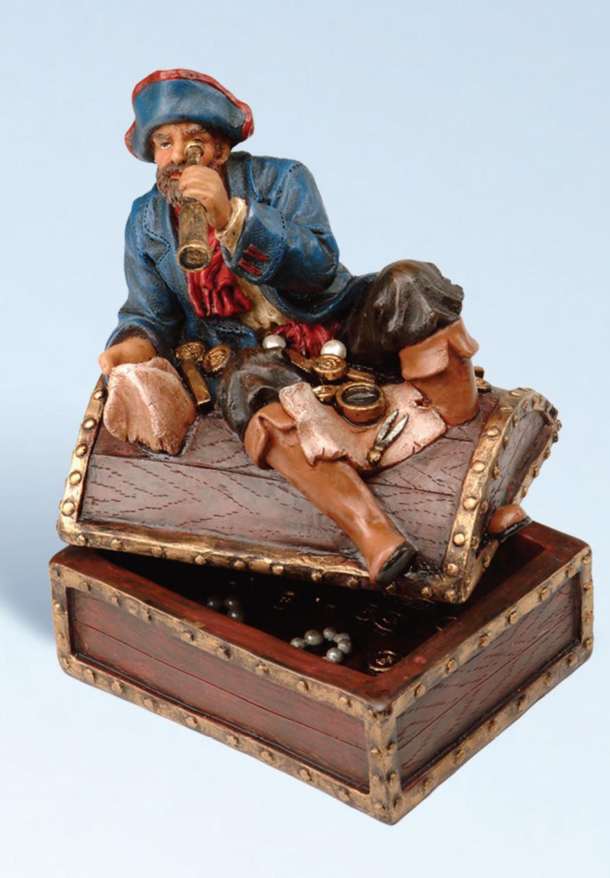 Card Deck Holder -  Blue Coat Captain